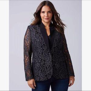 Lane Bryant Black Lace The Bryant Blazer Jacket